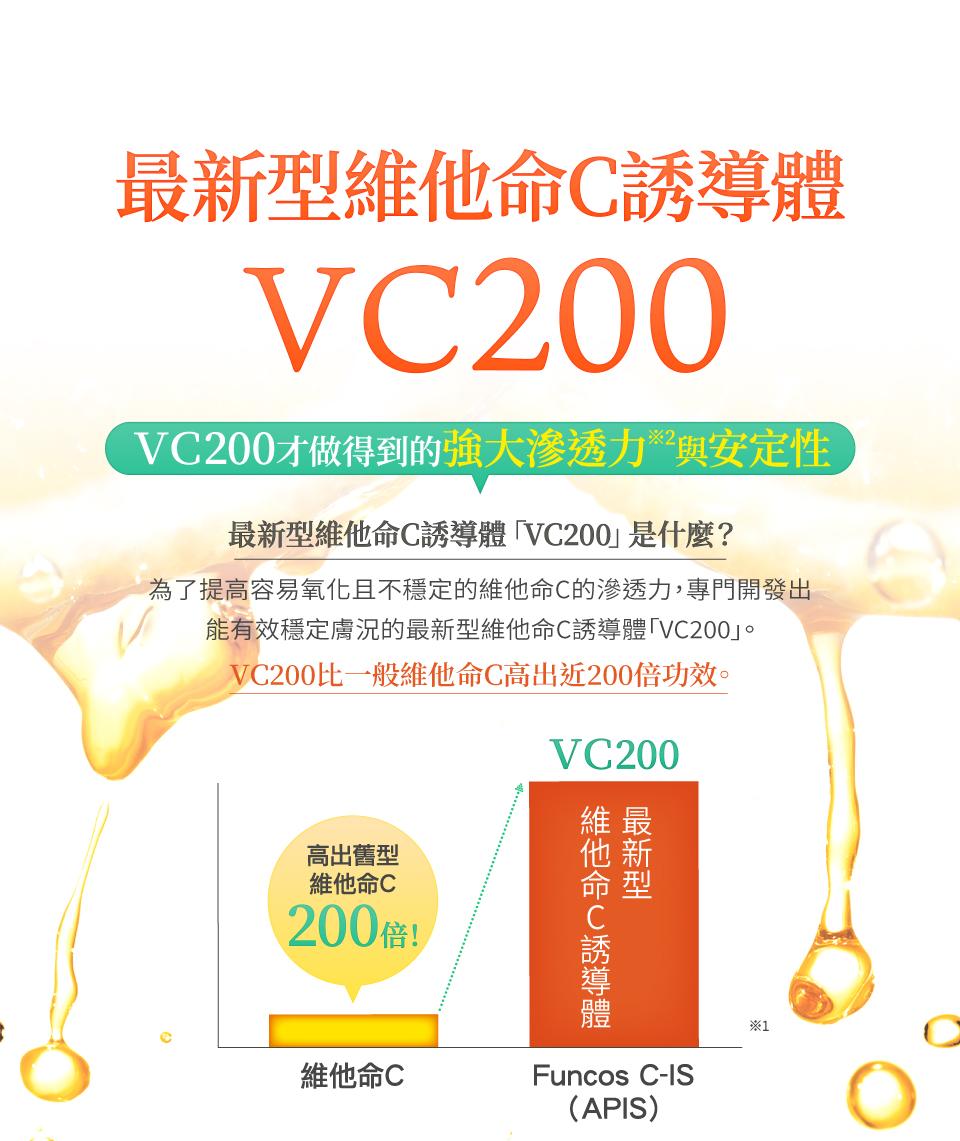 vc200的強大滲透力與安定性